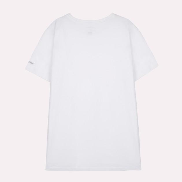 Herren Basic T-Shirt Kurzarm weiss mit Greenpeace-Logo