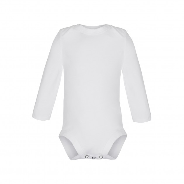 Baby Body Langarm weiß