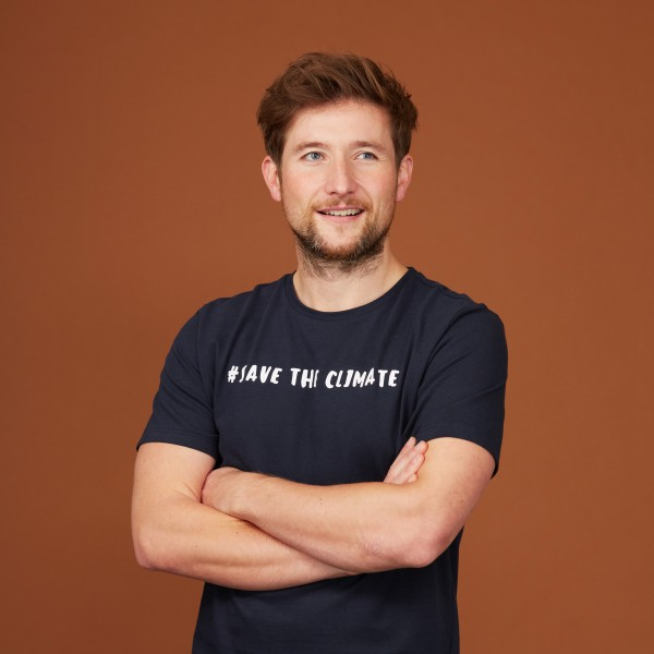 "Herren T-Shirt ""Save the Climate"" nachtblau"