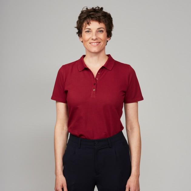 Damen-Polo biking red