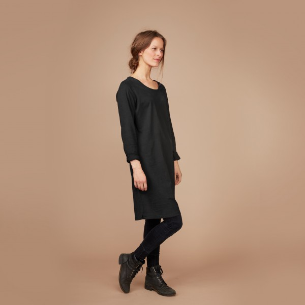 Damen Basic Shirtkleid schwarz