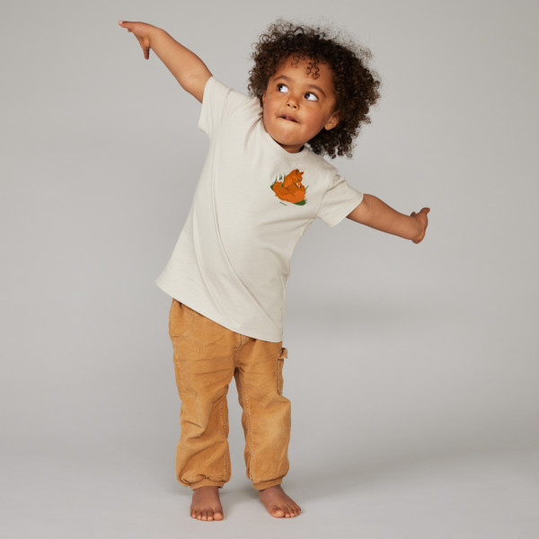 "Kids T-Shirt ""Kleiner Fuchs"" kieselgrau"