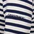 Vorschau: Damen Langarm Ringelshirt mit Greenpeace Logostick cremeweiss/dunkelblau