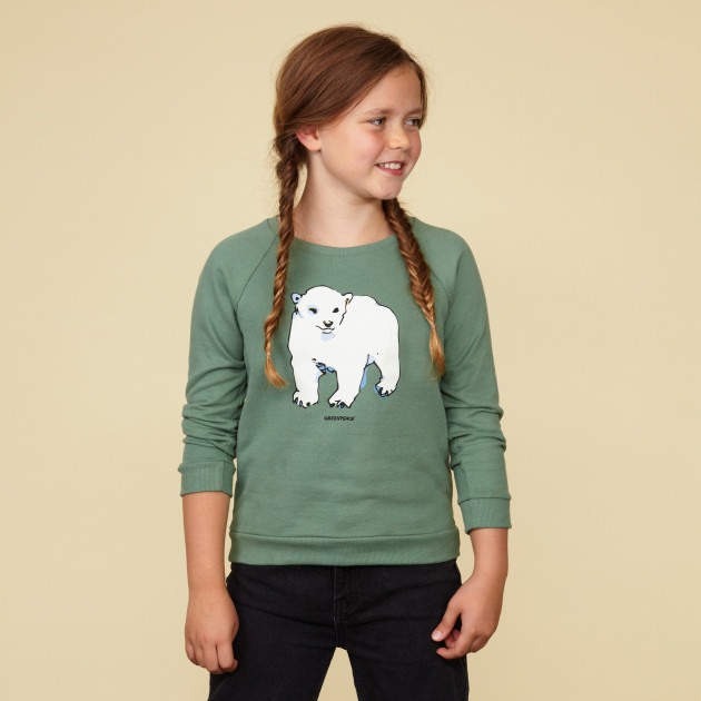 "Sweatshirt ""Eisbär"" schilfgrün"