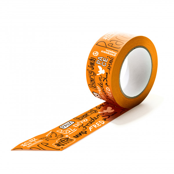 "Papierklebeband ""Peace"" orange"