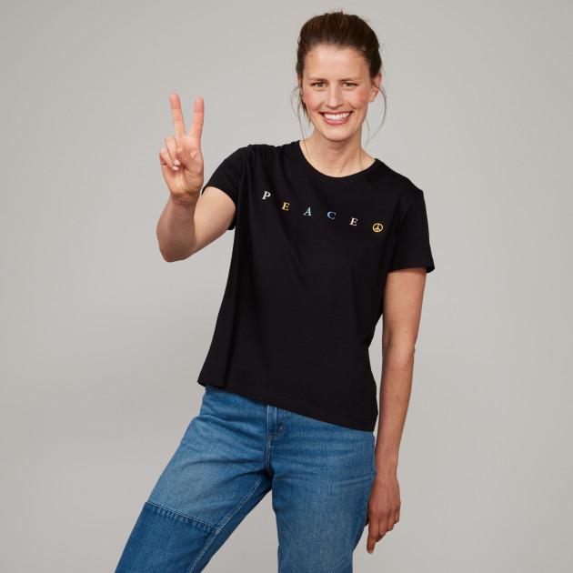 "Sommer Shirt ""PEACE"" schwarz"
