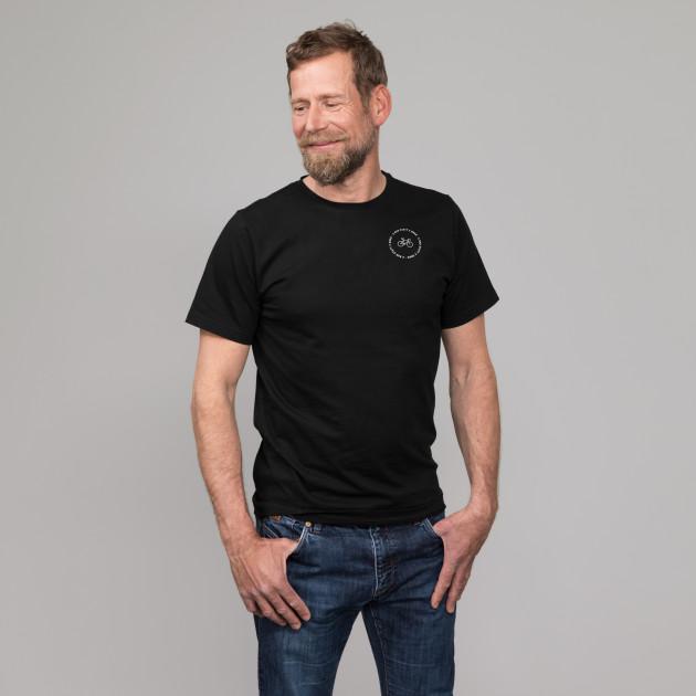 "Limited Edition T-Shirt ""2-Rad statt 2 Grad"" schwarz"
