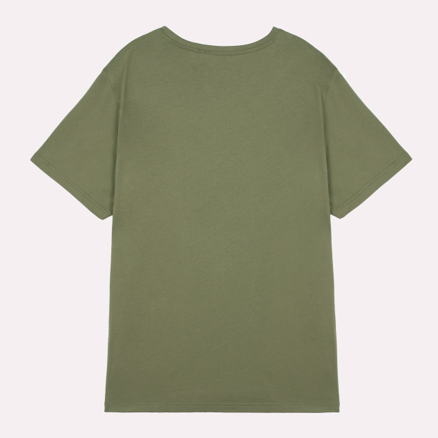 Herren Basic T-Shirt Kurzarm khakigrün