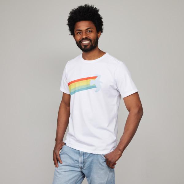 """T-Shirt """"Rainbow Warrior"""" weiß"""