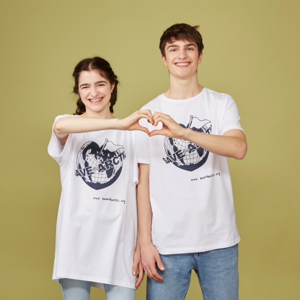 "T-Shirt ""Save the Arctic"" weiß"