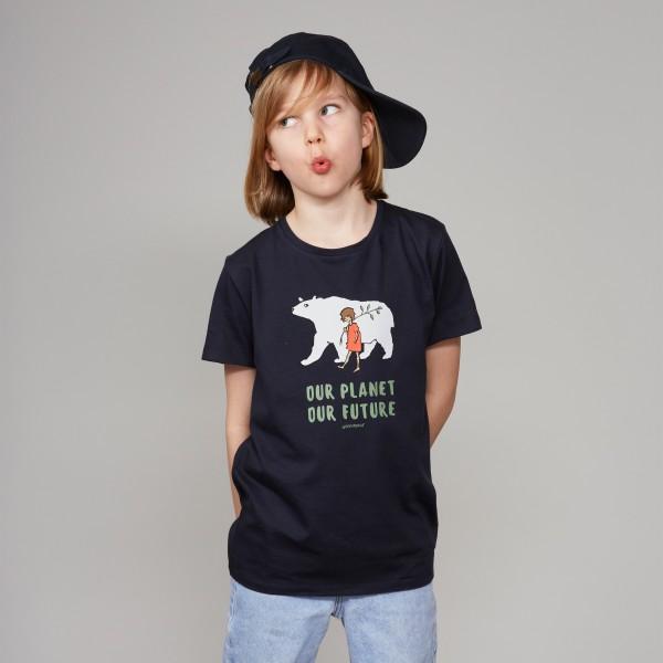"""T-Shirt """"Eisbär"""" nachtblau"""