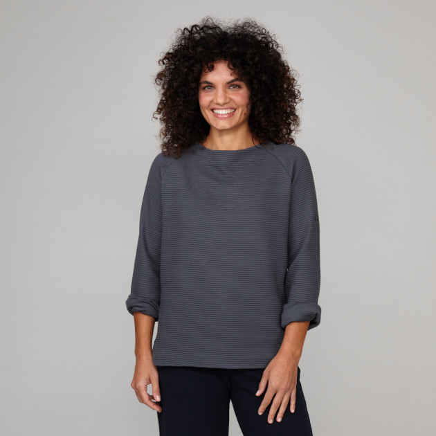 Damen Tunika Sweatshirt graphitgrau
