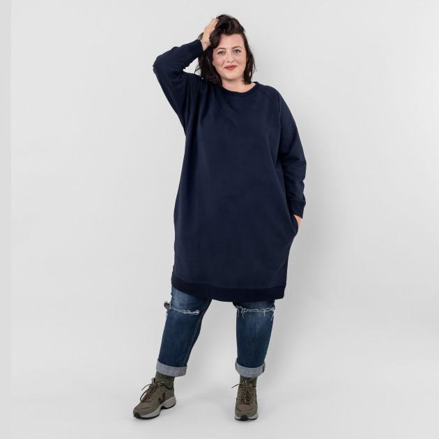 Damen Sweatshirt-Kleid nachtblau