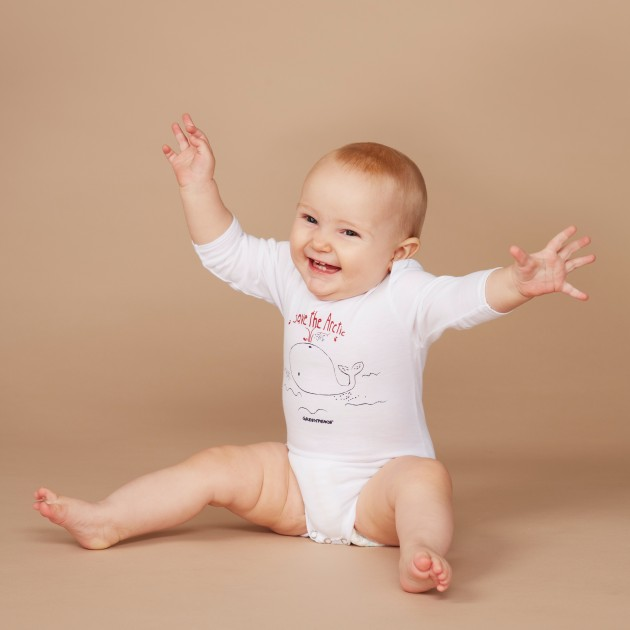 "Baby Body Langarm ""Save the Arctic"""