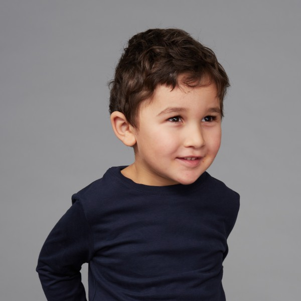 Kids Langarm Shirt nachtblau