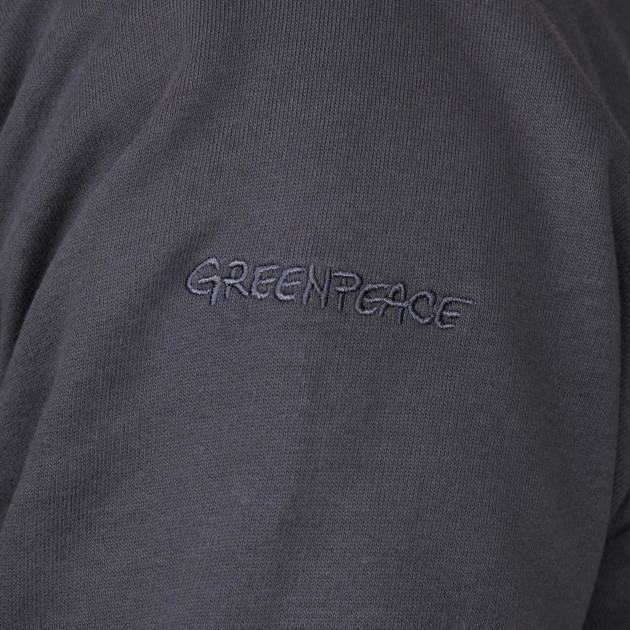 Herren Troyer mit Greenpeace Logostick graphitgrau