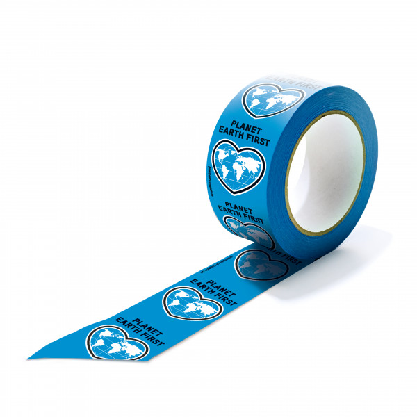 "Papierklebeband ""Planet Earth First"" schwarze Schrift"