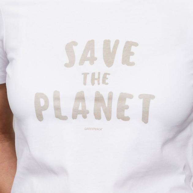 "Damen T-Shirt ""Save the Planet"" weiß"