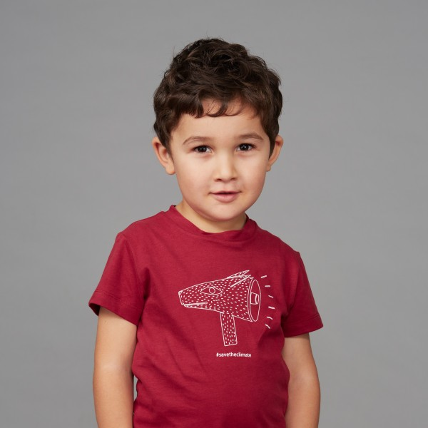 "Kids T-Shirt ""Save the Climate"" biking red"