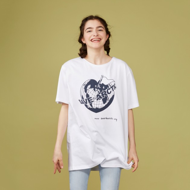 "T-Shirt ""Save the Arctic"" weiß"