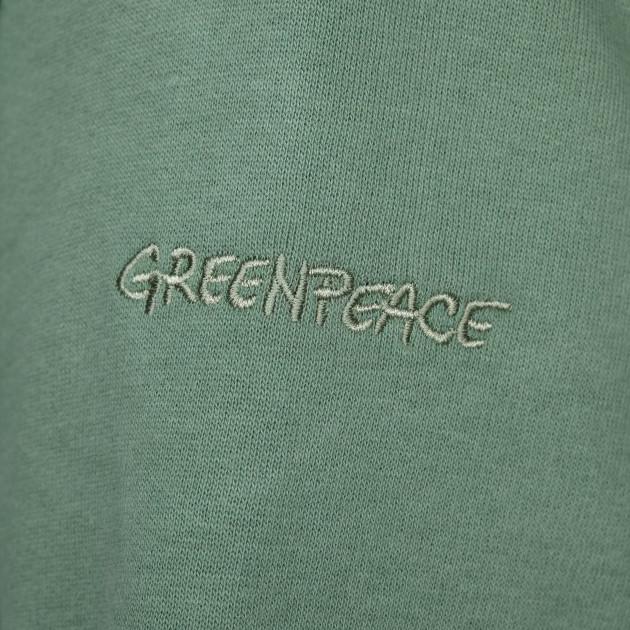 Herren Kapuzenjacke mit Greenpeace Logostick schilfgrün