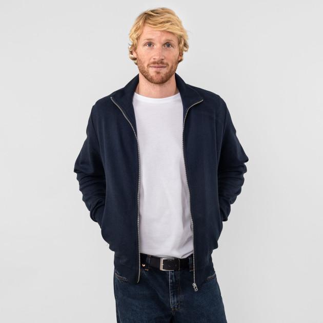 Sportlicher Blouson double knit nachtblau