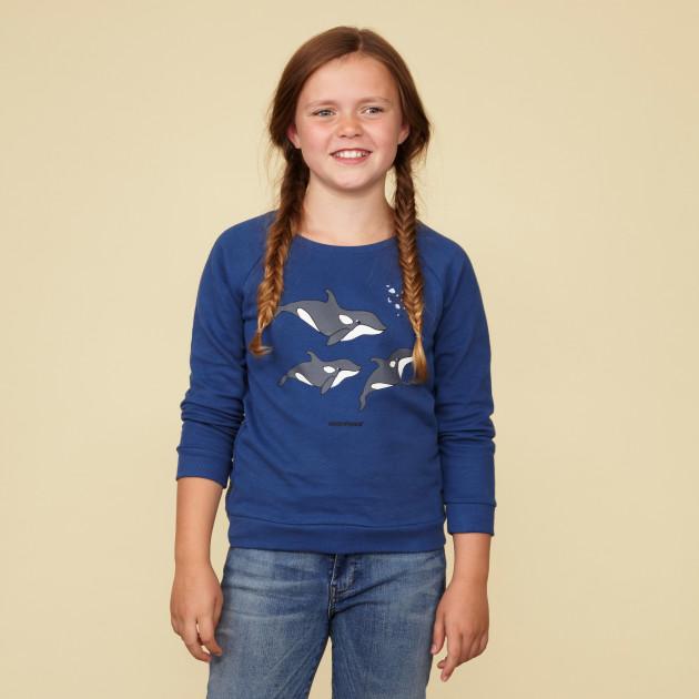 "Sweatshirt ""Orca"" azurblau"