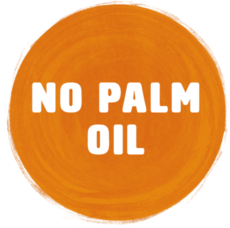 No palm oil or artificial sweeteners