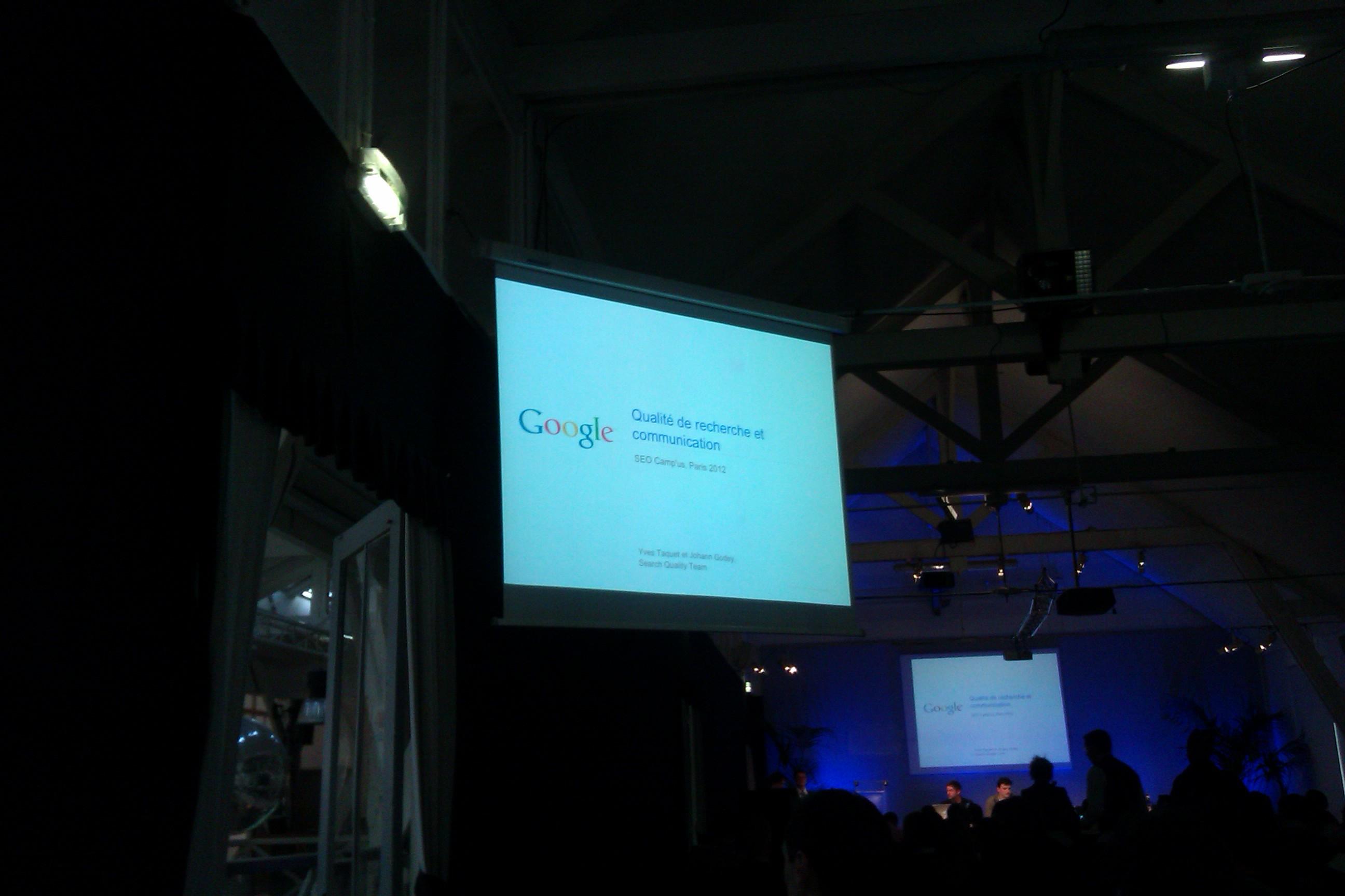 Google au SEO Campus 2012