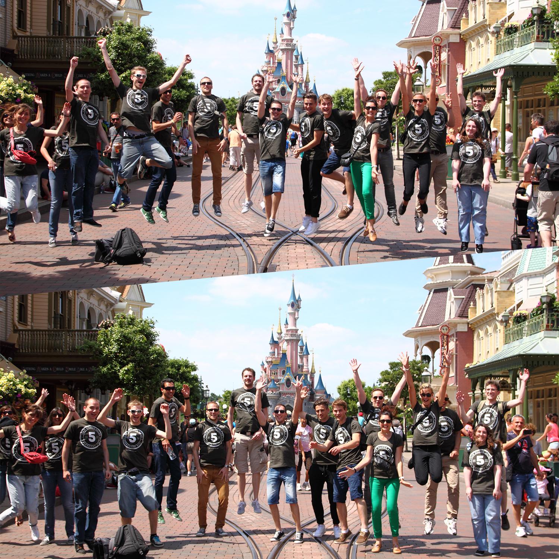 Une bien belle journée à Disney pour l'équipe Silicon Salad
