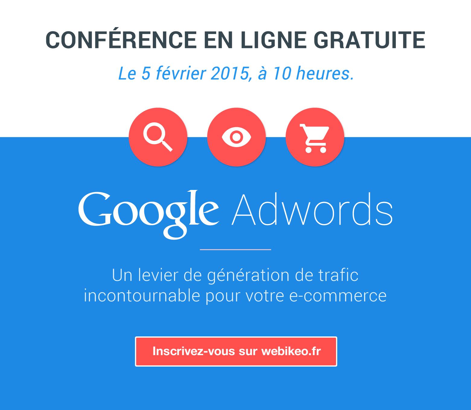 conférence en ligne gratuite Google Adwords