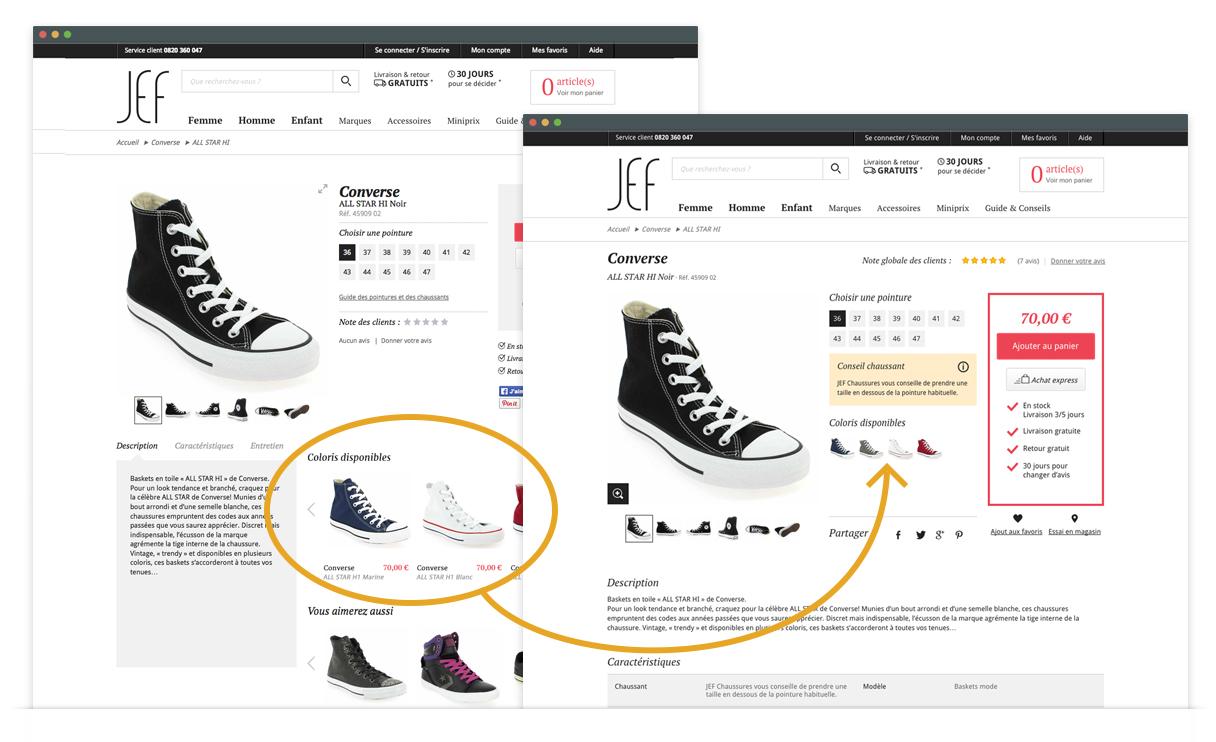 Jef Chaussures - Nouvelle page produit - coloris disponibles
