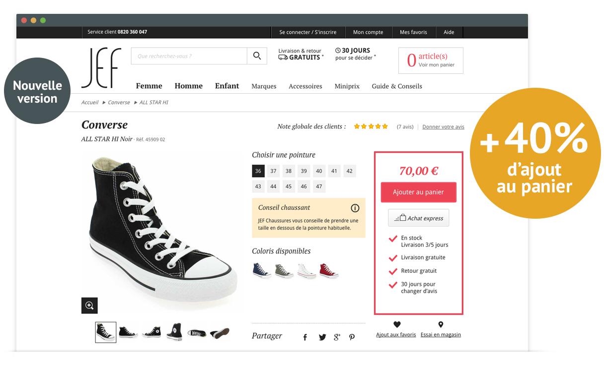 JEF Chaussures - page produit - nouvelle version
