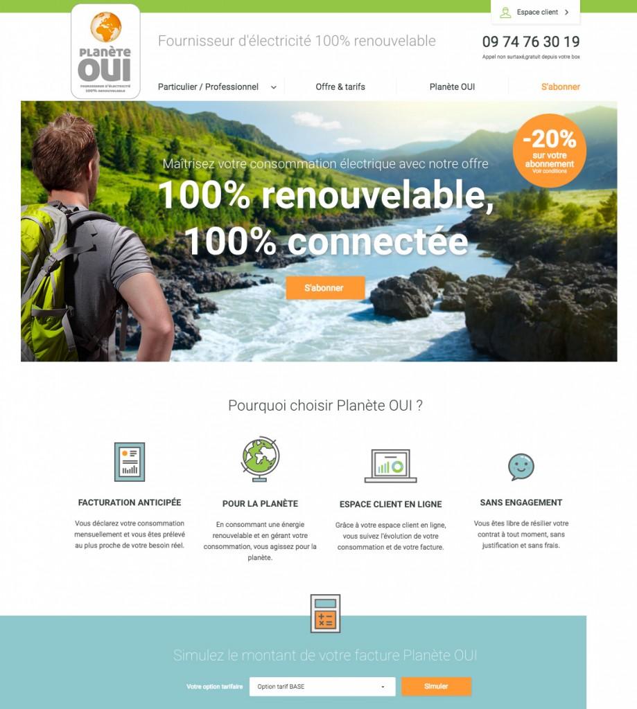 Homepage Planète OUI