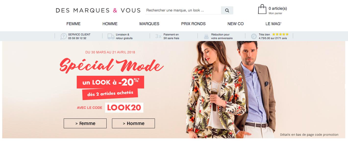 Site Des Marques et Vous