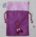 Silk jewellery pouch for travel, holiday, gift wrap.