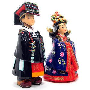 Figurine gift set, handmade oriental King and Queen figurines