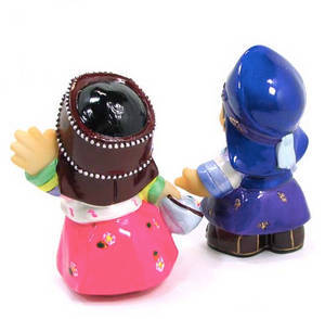 Oriental figurine, handmade Boy and Girl figurines gift set