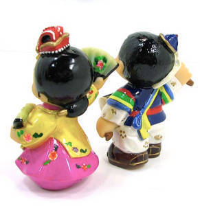 Oriental figurine, handmade dancing couple figurines gift set