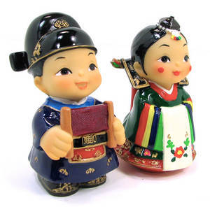 Oriental figurine, handmade bride and groom figurines gift set