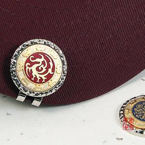 Ball marker, set of 2 cap clips, handmade gift