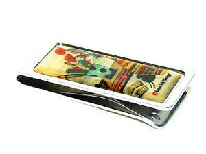 Money clip, stainless steel designer paper holder, mother of pearl gift, Vase