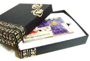 Designer business card holder, mother of pearl gift, King's gown clearance sale