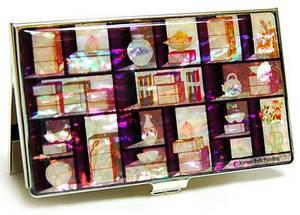 Designer business card holder, credit cardholder, handmade gift, bookshelf