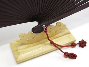 Hand fan display base - wooden craft