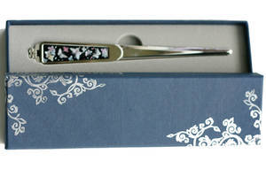 Paper knife, letter opener with mother of pearl, handmade gift, butterfly