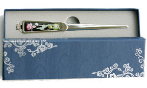 Paper knife, letter opener, mother of pearl gift, lotus