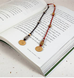 Gold plated bookmark, Set of 2, oriental crown, handmade gift