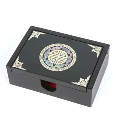 Wooden keepsake box, mother of pearl inlaid. Sangkamsu. Oriental gift