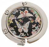 Handbag holder, hook, mother of pearl gift, butterfly